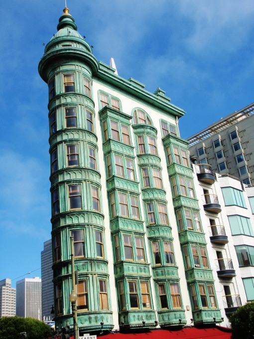 Copper clad building