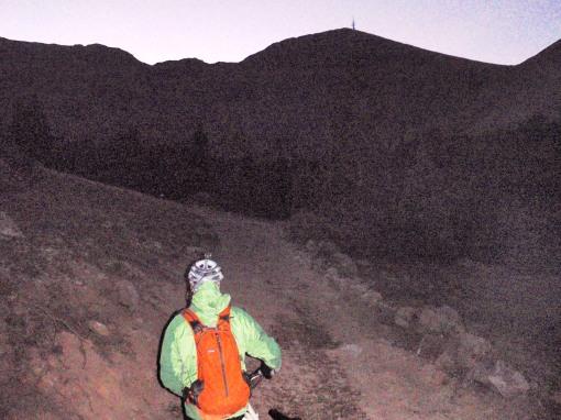 "Markie Mc""D"" starting the climb to Tomichi Pass at daybreak"